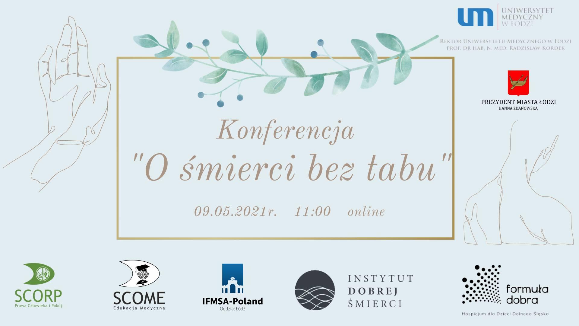 Plakat konferencji O śmierci bez tabu